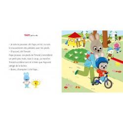 Timoté fait du vélo